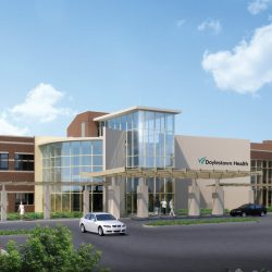 Doylestown Hospital - Main Entrance April copy